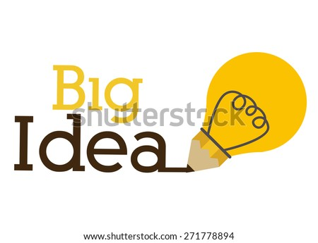 big idea design over white background vector illustration - Idea Design