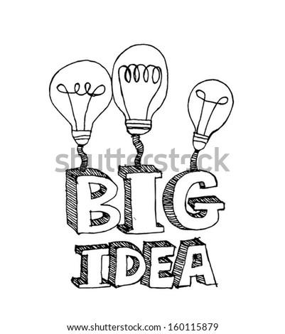 big idea Light bulb vector icon  - stock vector
