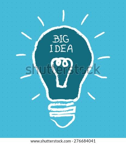 Big igea bulb, vector illustration. - stock vector
