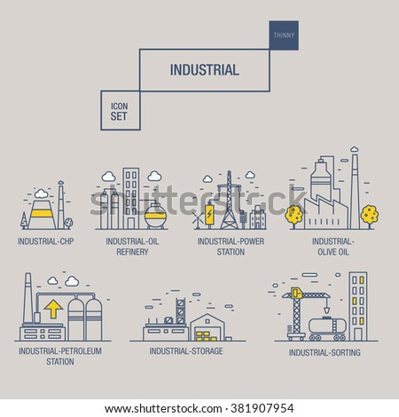 stock vector big industrial icon set with design elements gas olive clean tower hydro train airport 381907954 big industrial icon set design elements stock vector 381907954