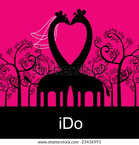 Big Love (visit our gallery for more valentine vectors). - stock vector