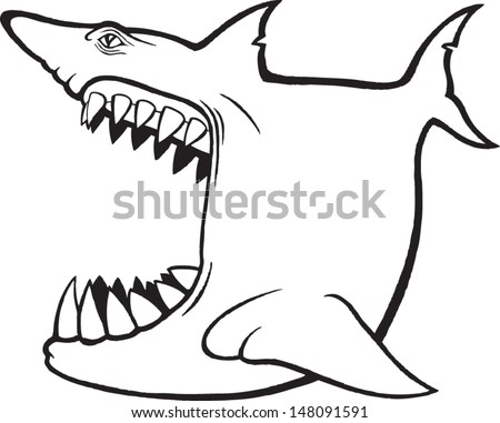 big mouth - stock vector