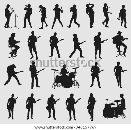Big musician collection - stock vector