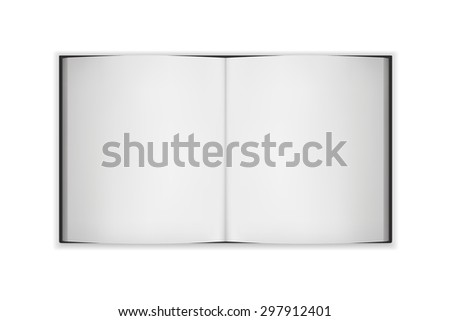 big open blank book, vector - stock vector