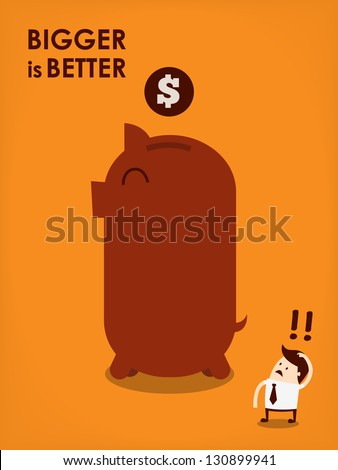 big piggy bank - stock vector