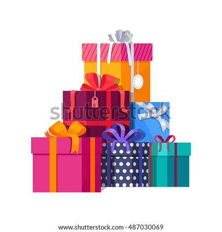 Big pile colorful wrapped gift boxes 482365975 big pile of colorful wrapped gift boxes mountain gifts beautiful present box with overwhelming negle Images