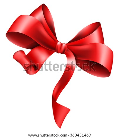 Big red bow - stock vector