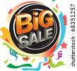 Big sale and festive graphic - stock photo