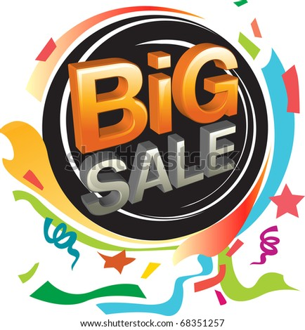 Big sale and festive graphic - stock vector