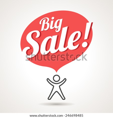 Big Sale Announcement Symbol. Vector sign. - stock vector