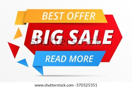 Big sale banner, best offer, vector eps10 illustration - stock vector