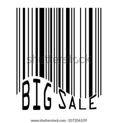 Big Sale bar codes all data is fictional. EPS 8 vector file included