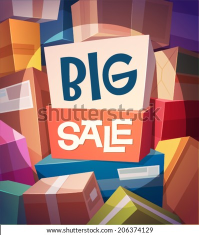 Big sale card \ poster design. Vector illustration - stock vector