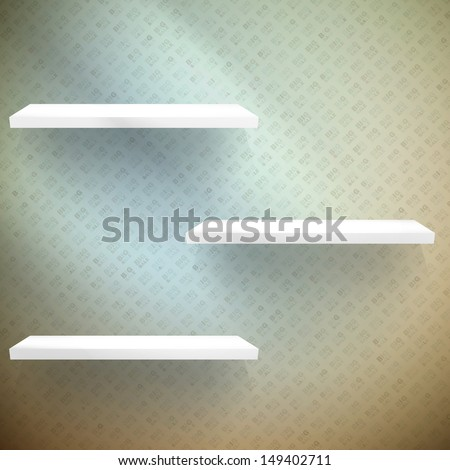 Big Sale 3D shelves and shelf for wrap advertising. EPS 10 - stock vector