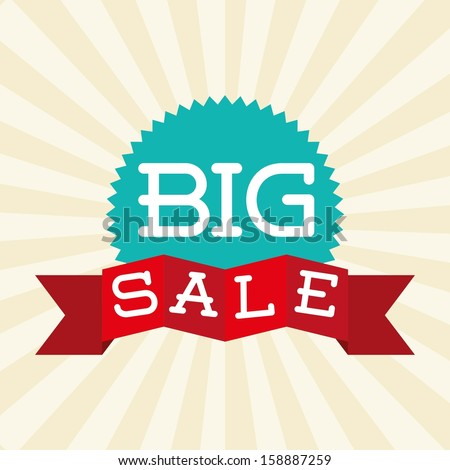 big sale design over grunge background vector illustration - stock vector