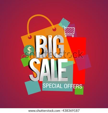 Big Sale Discount Vector Design Banner Stock Vector 438369187 ...