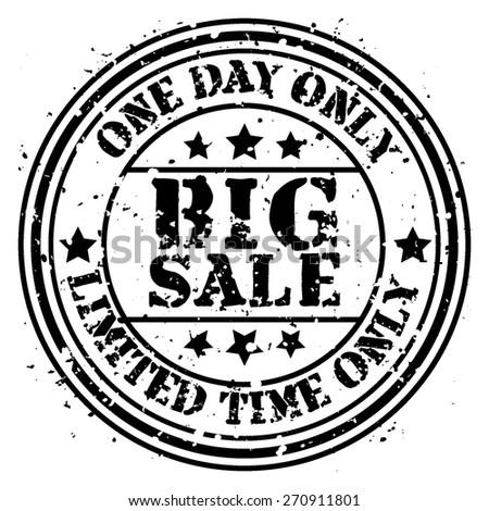 Big sale grunge rubber stamp  - stock vector