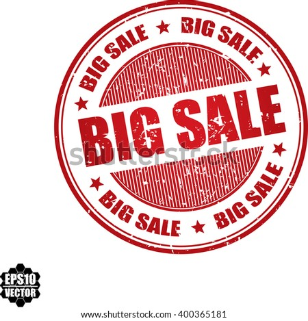 Big sale grunge stamp.Vector - stock vector