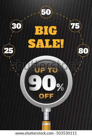 Big sale infographic design. Vector template.