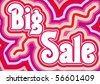 Big Sale inscription, vector illustration - stock vector