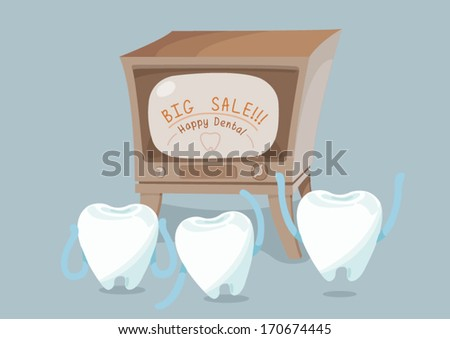 Big sale of dental vector - stock vector