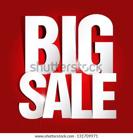 Big Sale Paper Folding Design - stock vector