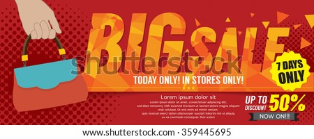 Big Sale 50 Percent 6250x2500 pixel Banner Vector Illustration