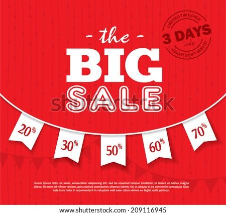 Big Sale Poster - stock vector