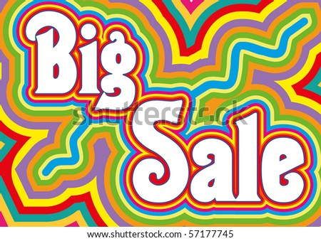 Big Sale retro title, vector illustration