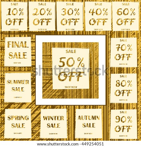 Big sale set on the creative abstract  background