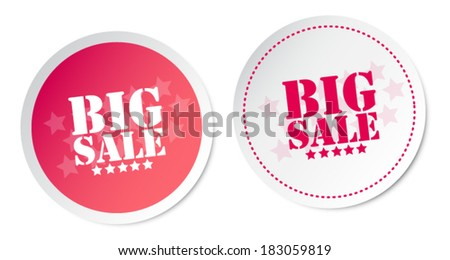 Big sale stickers - stock vector