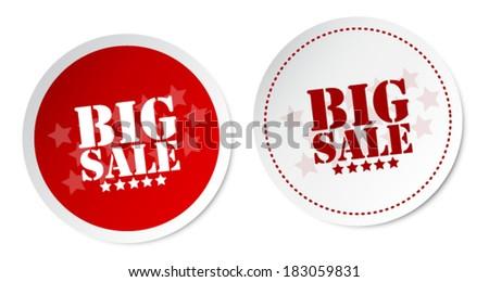 Big sale stickers - stock vector