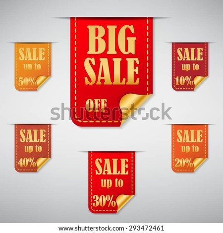 Big Sale Stickers and tags. EPS10 Vector