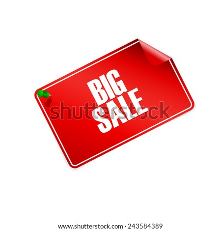 Big sale tag - vector illustration - stock vector
