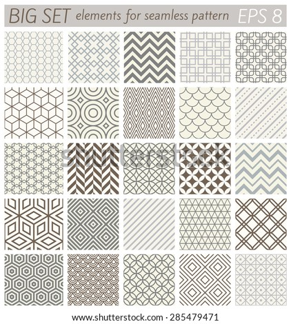 Big set elements for samples geometric vector patterns