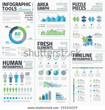Big set of awesome infographic vector elements for business - stock vector
