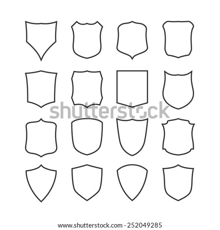 Big set blank classic shields templates stock vector 248204326 big set of blank classic shields templates design elements vector illustration pronofoot35fo Image collections