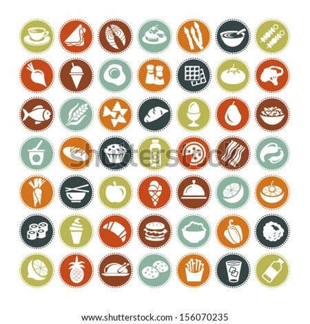 Big set of food icons  ALL NEW - stock vector
