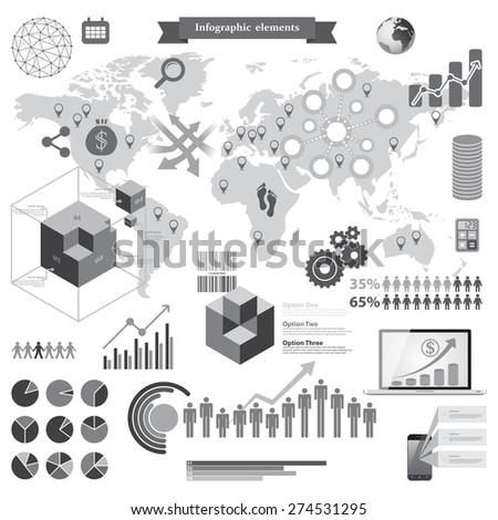Big set of infographic elements - stock vector