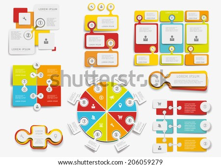Big set of infographic elements  set vector EPS10 - stock vector