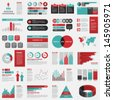 Big set of infographics elements. EPS10. - stock vector