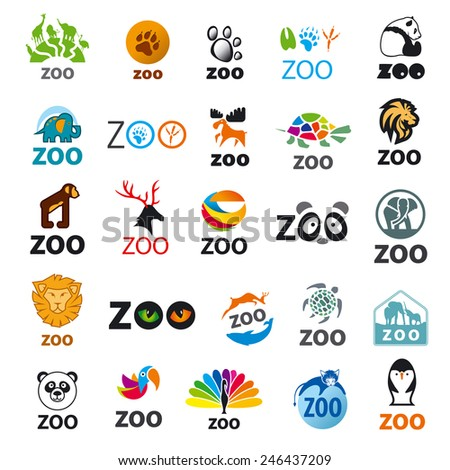 big set of vector icons zoo - stock vector