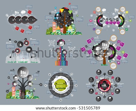 Big set of vector of infographic