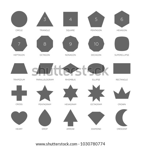 Big Set Vector Basic Shape Circle Stock Vector Shutterstock