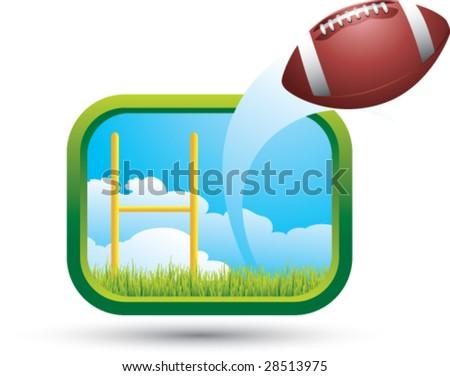 big shot football - stock vector