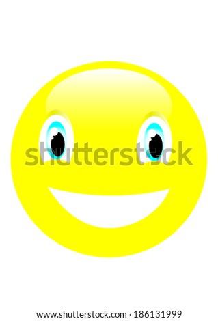 big smile  - stock vector