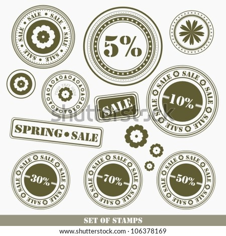 Big spring sale rubber stamp - stock vector