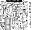 big vector set : Doodles - stock vector