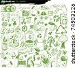 big vector set - eco - stock photo