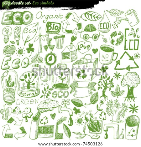 big vector set - eco - stock vector